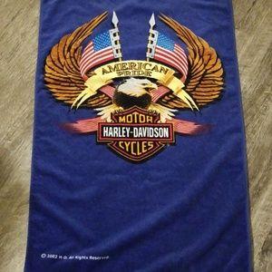 NWOT Harley Davidson beach towel